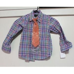 Boys Button Down with Tie NEW